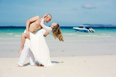 Beautiful couple in love near sea Royalty Free Stock Images