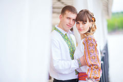 Beautiful couple in love. photos in gentle tones Royalty Free Stock Image
