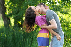 Beautiful Couple in love on summer royalty free stock image