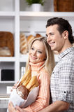 Beautiful couple in market Royalty Free Stock Photos