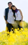 Beautiful couple in a meadow Royalty Free Stock Photos