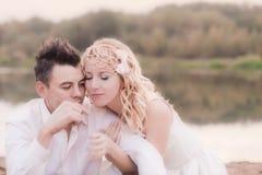 Beautiful couple  outdoor Stock Photo