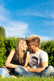 Beautiful couple outdoors Royalty Free Stock Photos