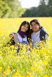 Beautiful couple outdoors Stock Images