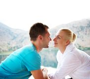 Beautiful couple outdoors Royalty Free Stock Images
