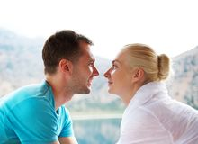 Beautiful couple outdoors Stock Photography