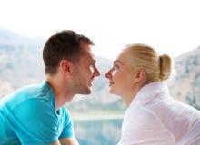 Beautiful couple outdoors Stock Photography