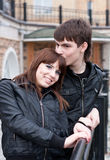 Beautiful couple outdoors Royalty Free Stock Image