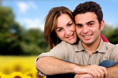 Beautiful couple outdoors Royalty Free Stock Photo