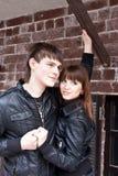 Beautiful couple outdoors Stock Photo