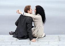Beautiful couple outdoors Royalty Free Stock Photography