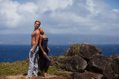 Beautiful couple in Paradise Stock Images