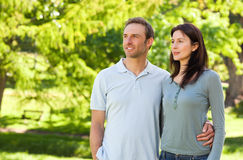 Beautiful couple in the park. Beautiful young couple in the park Stock Images