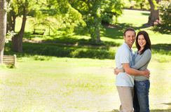 Beautiful couple in the park Stock Photography