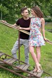 Beautiful couple in the park. Cute, young couple in the park Royalty Free Stock Photo