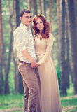 Beautiful couple in the park Royalty Free Stock Photography