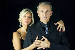 Beautiful couple of passionate tango dancer Stock Photography