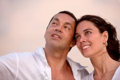 Beautiful couple portrait outdoors Royalty Free Stock Image