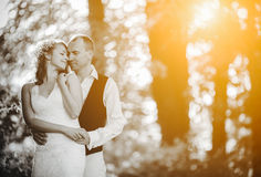 Beautiful couple posing Royalty Free Stock Images