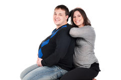 Beautiful couple - pregnant woman Stock Image