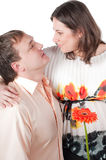 Beautiful couple - pregnant woman Royalty Free Stock Image