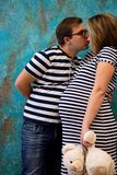Beautiful couple: pregnant woman and man royalty free stock photography