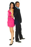Beautiful couple ready for dance Stock Photography