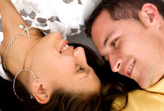 Beautiful couple relaxing Stock Images