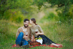 Beautiful couple resting Stock Photo