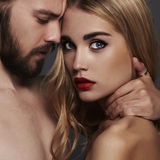 Beautiful couple.sexy woman and handsome man.boy and girl together Stock Image
