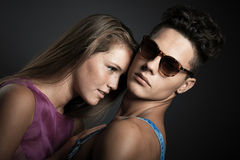 Beautiful couple sharing tender moments Royalty Free Stock Images