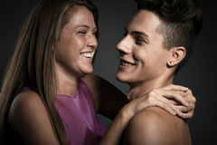 Beautiful couple sharing tender moments Royalty Free Stock Photo