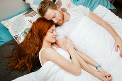 Beautiful couple sleeping Royalty Free Stock Images