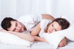 Beautiful couple sleeping Royalty Free Stock Image