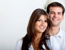 Beautiful couple smiling Stock Image