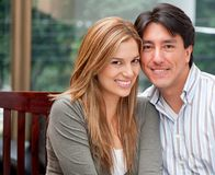 Beautiful couple smiling Royalty Free Stock Photo