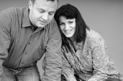 Beautiful couple smiling Stock Photo