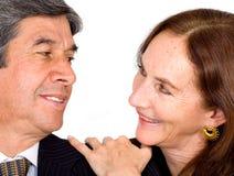 Beautiful couple smiling Stock Photos