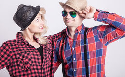Beautiful couple smiling Royalty Free Stock Images