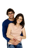 Beautiful couple smiling isolated on a white background Royalty Free Stock Images