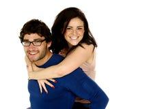 Beautiful couple smiling isolated on a white background Stock Image