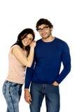 Beautiful couple smiling isolated on a white background Stock Photo
