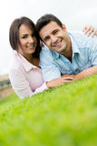 Beautiful couple smiling Stock Images