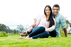 Beautiful couple smiling Royalty Free Stock Photography
