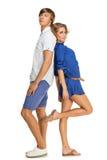 Beautiful couple standing Stock Photo