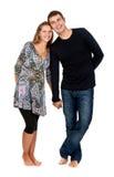 Beautiful couple in the studio Stock Photo
