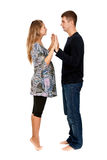 Beautiful couple in the studio Royalty Free Stock Image