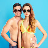 Beautiful couple in sunglasses Royalty Free Stock Photo