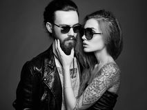 Beautiful couple in sunglasses Stock Photography