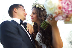 Beautiful couple in the sunlight Stock Photo